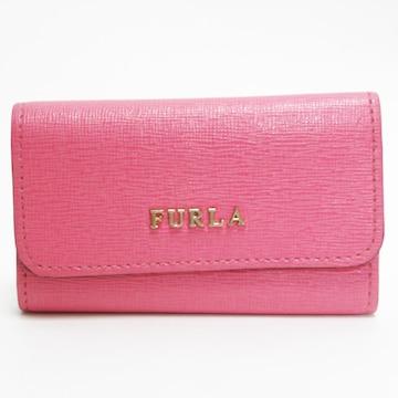 美品FURLAフルラ 6連キーケース レザー ピンク 良品 正規品