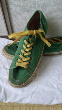 VANS緑色スニーカー