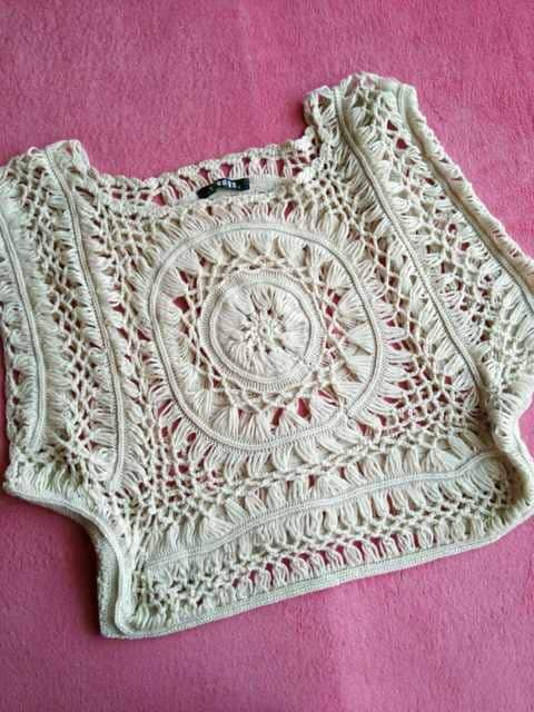 新品☆ざっくり透かし編み♪エスニック♪ドルマンニット☆ベージュF < 女性ファッションの