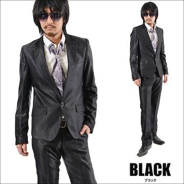 【PP】1Bシャンブレースーツ新品ブラックS