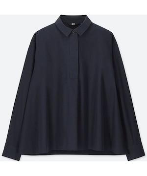 新品未使用UNIQLOユニクロEFC Aラインシャツ長袖Navyネイビー