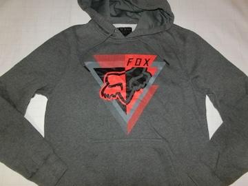 USA購入フォックス【FOX】裏起毛 ロゴプルオーバーパーカーUS S