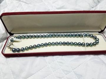 グリーンパールネックレス シルバー刻印有り 真珠