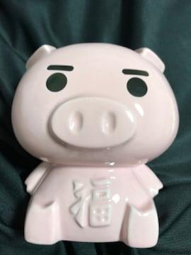 豊天商店 キャラクター 美豚 貯金箱 箱付き ぶた ブタ 豚 ピンク