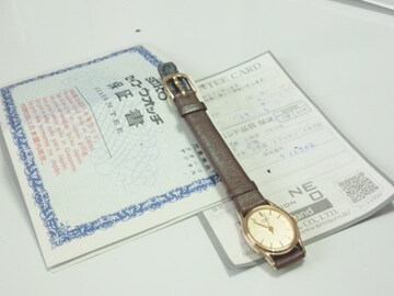 12553/SEIKOセイコー保証書付きオーバル型レディース腕時計格安出品