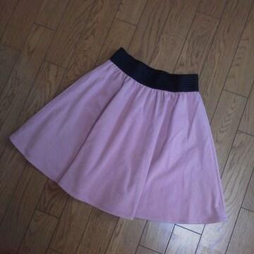 MURUA★ポンチフレアスカート*ピンク