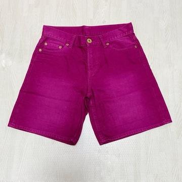 【美品】カラーデニム ショートパンツ/UNIQLO/58.5cm/ピンク
