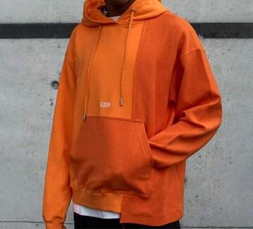 EJDER パーカー オレンジ ユニセックス サイズM