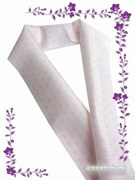 【和の志】夏物(絽)カジュアル半襟◇白(ピンク系)麻の葉◇16