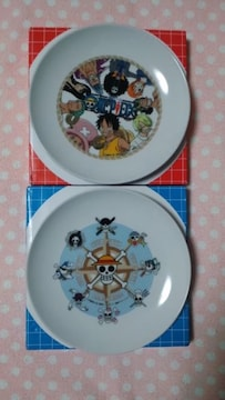 ONE PIECE☆ワンピース・陶器絵皿☆2枚セット☆非売品
