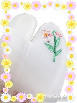 【和の志】誕生花シリーズ◇ストレッチ刺繍足袋◇7月・ゆり