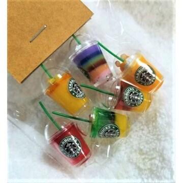 ミニチュア★スターバックス★フルーツジュース6種類セット★