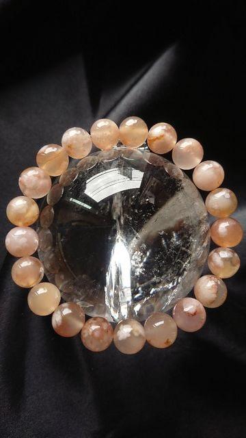 希少★限定★マダガスカルの桜石★9.5ミリ < 女性アクセサリー/時計の