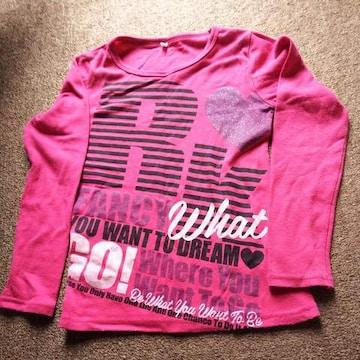 女の子用.長袖Tシャツ150�p