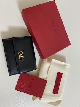 ヴァレンティノガラヴァーニ VALENTINO 名刺入カードケース 黒