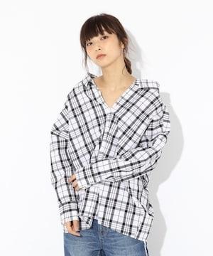 ローリーズファーム 2wayヌケシャツ BIGチェックシャツ
