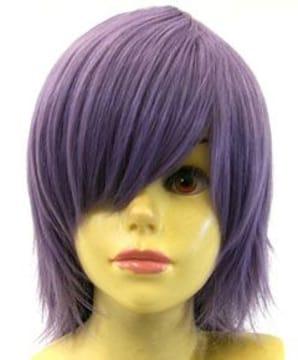 即納可能★即決★ フルウィッグ レイヤーボブ 紫/パープル L5