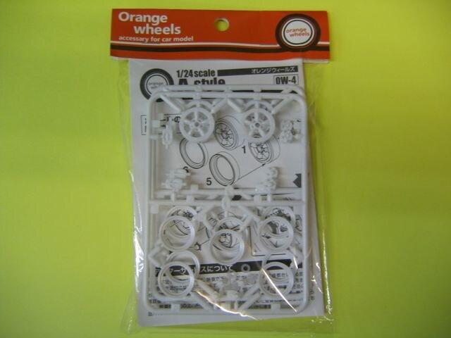 アスカモデル 1/24 Orange wheels OW-4 A-Style(スタイル) 15インチ  < ホビーの