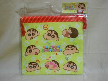 クレヨンしんちゃん フラット巾着/フェイス