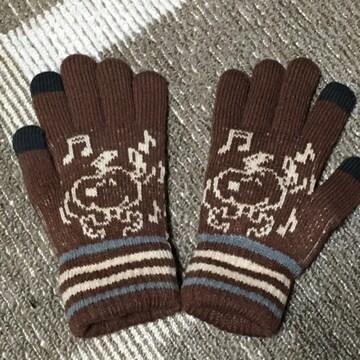 peanuts・スヌーピー柄スマホ対応ニット手袋