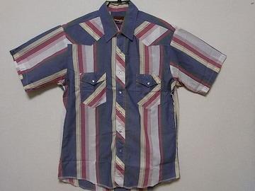 即決USA古着●ラングラーチェックウエスタン半袖シャツ!ビンテージアメカジ