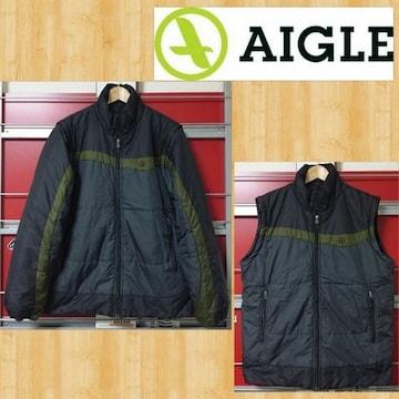 AIGLE エーグル 中綿ジャケット ベスト 2way 美品 XL