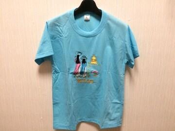新品未使用ベトナム土産半袖水色Tシャツサイゴン