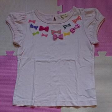 HUSHUSH☆リボンが可愛いTシャツ☆size110