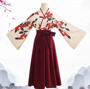 花柄 着物 袴 Mサイズ はいから 和装セット