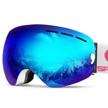 スノーボード スキーゴーグル 100%UV ブルー