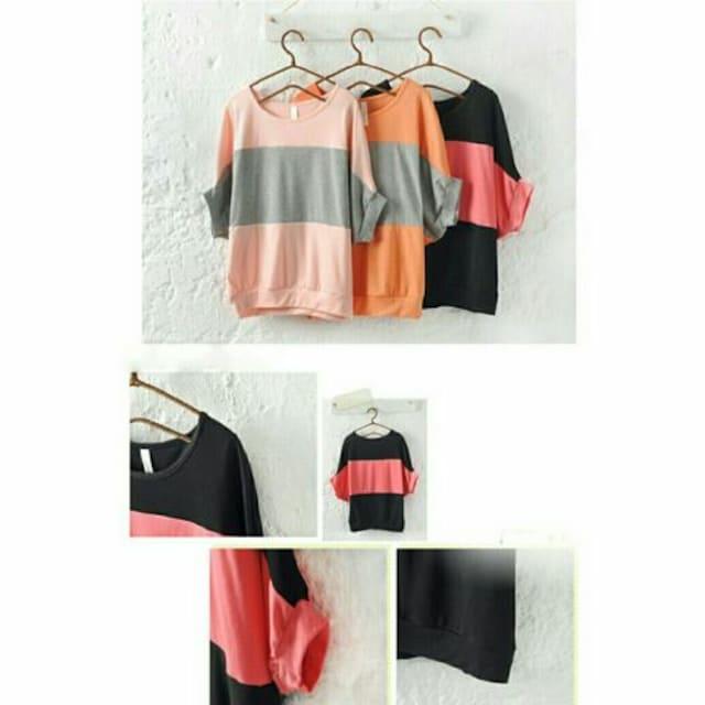 可愛いTシャツ(ピンク×グレー) < 女性ファッションの