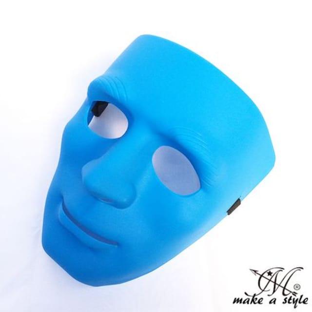 ヒップホップ ダンスマスク MASK お面 青 ブルー193 B系 DANCE  < レジャー/スポーツの