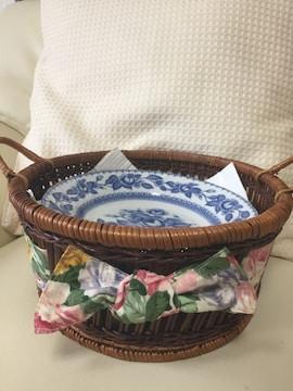 831.新品☆かご付き陶器皿5枚組