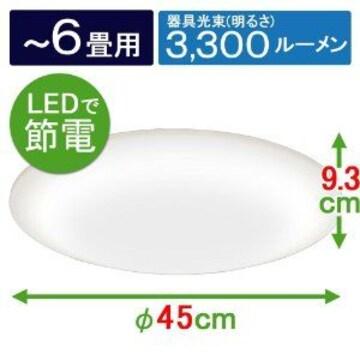 6畳用 新品 調光可能.アイリスLED照明器具(天井照明)