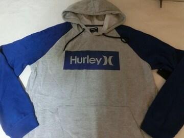 USA購入【HURLEY】プルオーバーパーカーUS XL 灰青