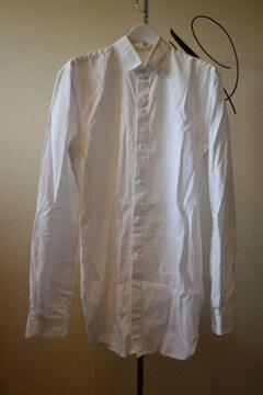 MUGLERミュグレー 比翼白長袖シャツ