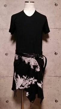 KMRIIケムリ Splash Wrap Skirt F タイダイブリーチ巻きスカート
