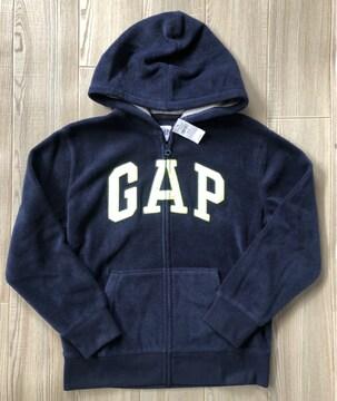 新品GAP☆140 ロゴ ジップパーカー ネイビー ギャップ
