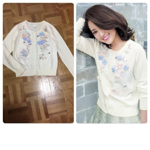 2017年購入 完売 美品 chesty Flower Chiffon Cardigan < ブランド