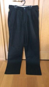 激安84%オフアルマーニ、ストレート、パンツ(美品、黒、イタリア製、30インチ)