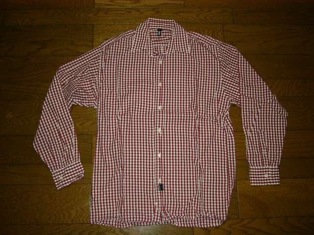 SILASサイラスチェックシャツM赤白系長袖薄手ギンガム  < ブランドの