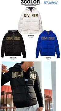 DIVINER ロゴ刺繍中綿ジャケット/ダウンタイプ/