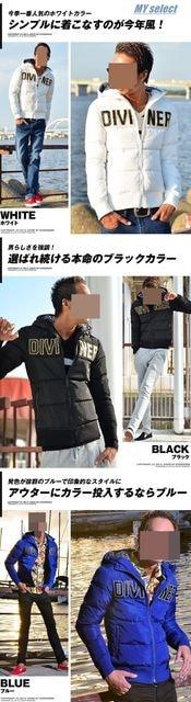DIVINER ロゴ刺繍中綿ジャケット/ダウンタイプ/ < 男性ファッションの