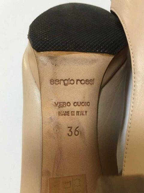 ◆【sergio rossi/セルジオロッシ】 オープントゥパンプス 36◆ < ブランドの