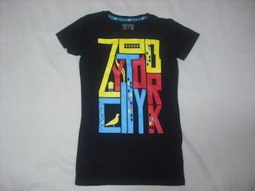 wr484 女 ZOO YORK ズーヨーク 黒 半袖Tシャツ Sサイズ ★