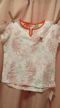 新品◆インナープレス◆ピーちゃん半袖Tシャツ◆120ボタニカル
