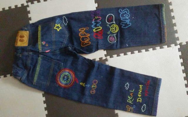 100 MINI-K Jeans デニム 美品 可愛い < キッズ/ベビーの