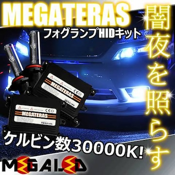 Mオク】MRワゴンウィットMF33S系/フォグランプHIDキット/H8/30000K