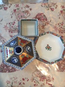 錦松梅と丸喜陶器 食器