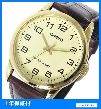 新品 即買い■カシオ メンズ 腕時計 MTP-V001GL-9B アイボリー